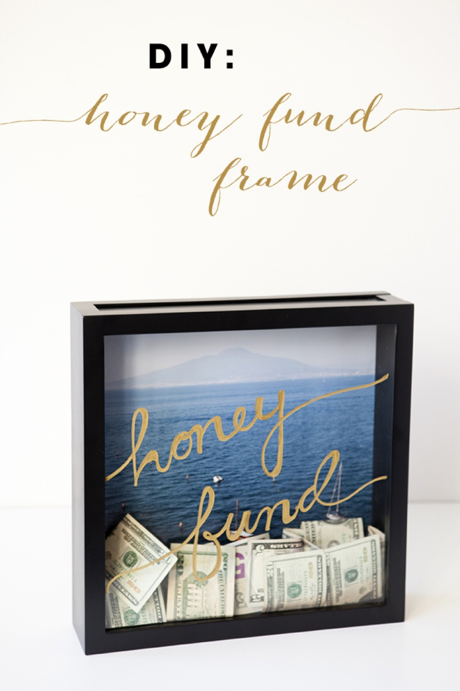 learn how to make this darling honeymoon fund frame. Black Bedroom Furniture Sets. Home Design Ideas