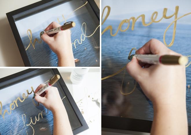 How to make a honeymoon fund shadowbox savings frame!