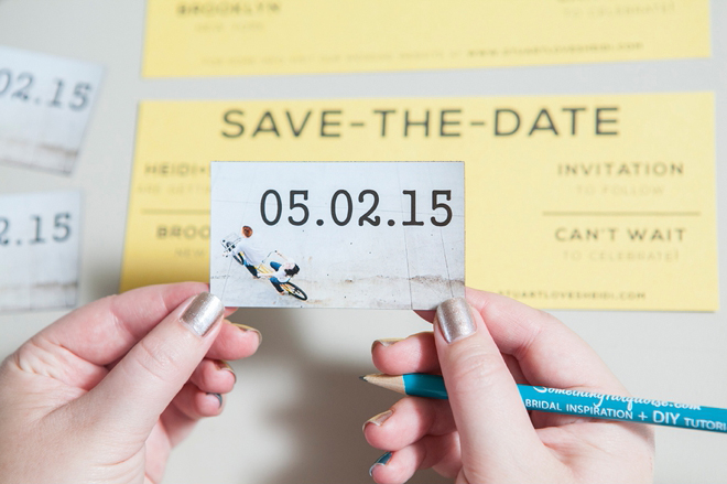 DIY Wedding // Magnet Save the Date Invitations!