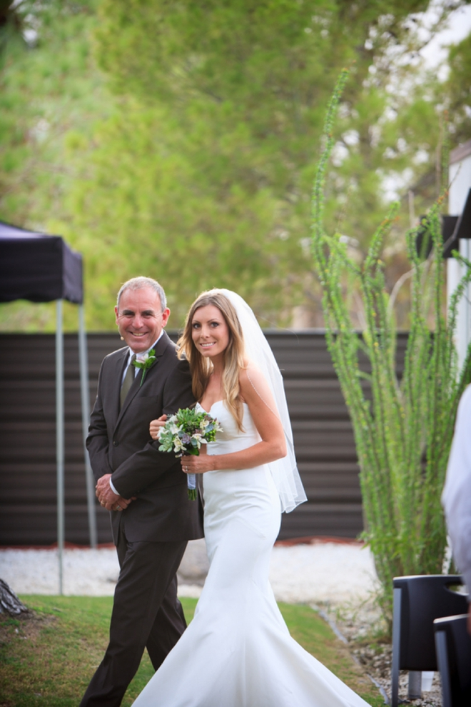 The bride and her father, who was also the officiant