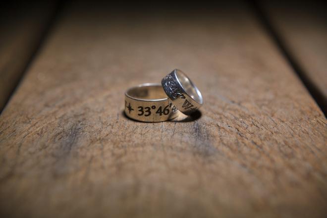 Custom wedding rings with date