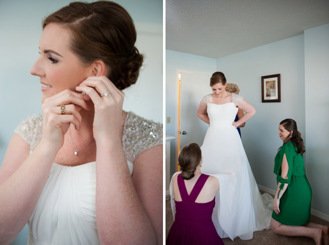 The bride getting ready...