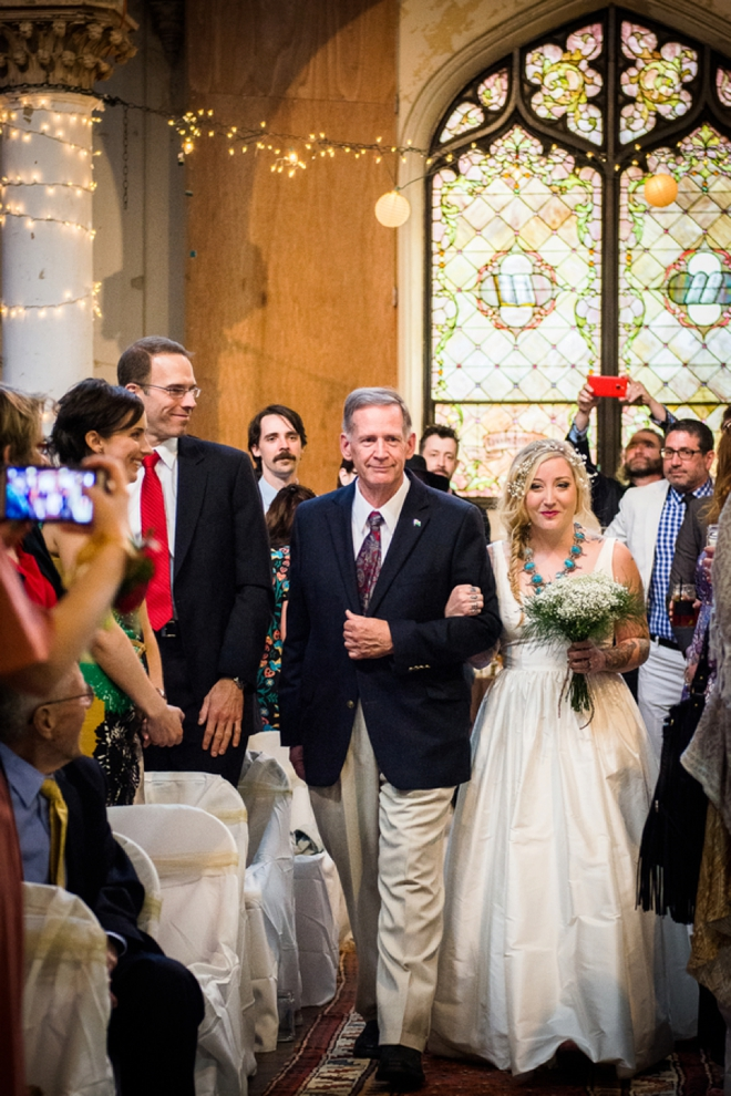 Walking down the aisle with the pops.
