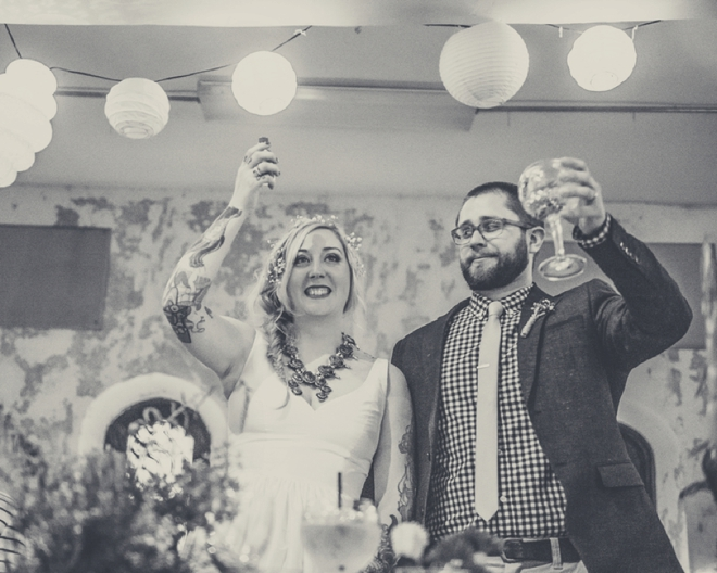 Cheers to the Mr & Mrs!
