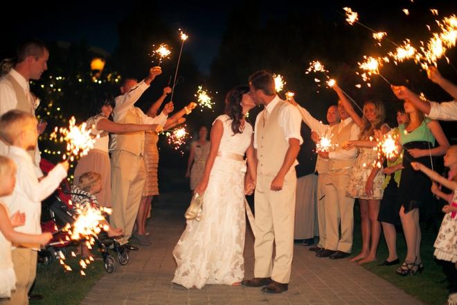 Sparkler wedding exit!