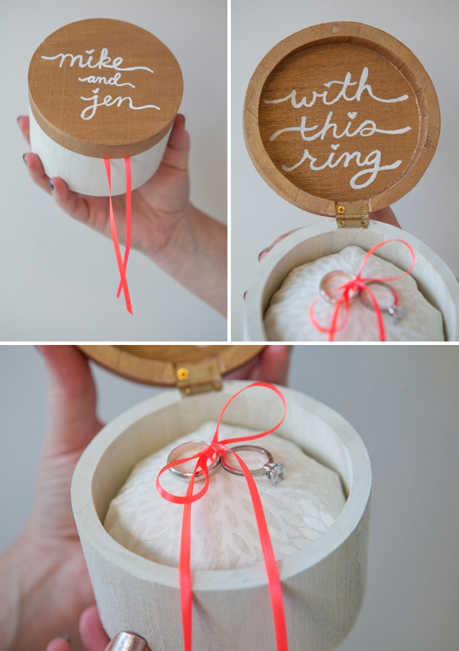 DIY - Wooden ring bearer pillow box