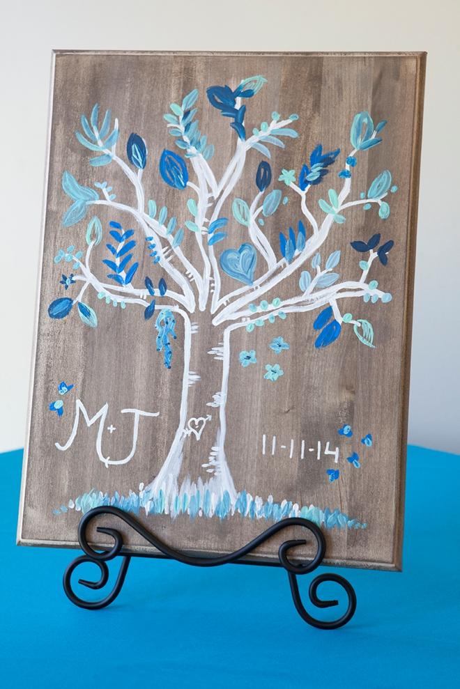DIY wedding: painted guest book tree