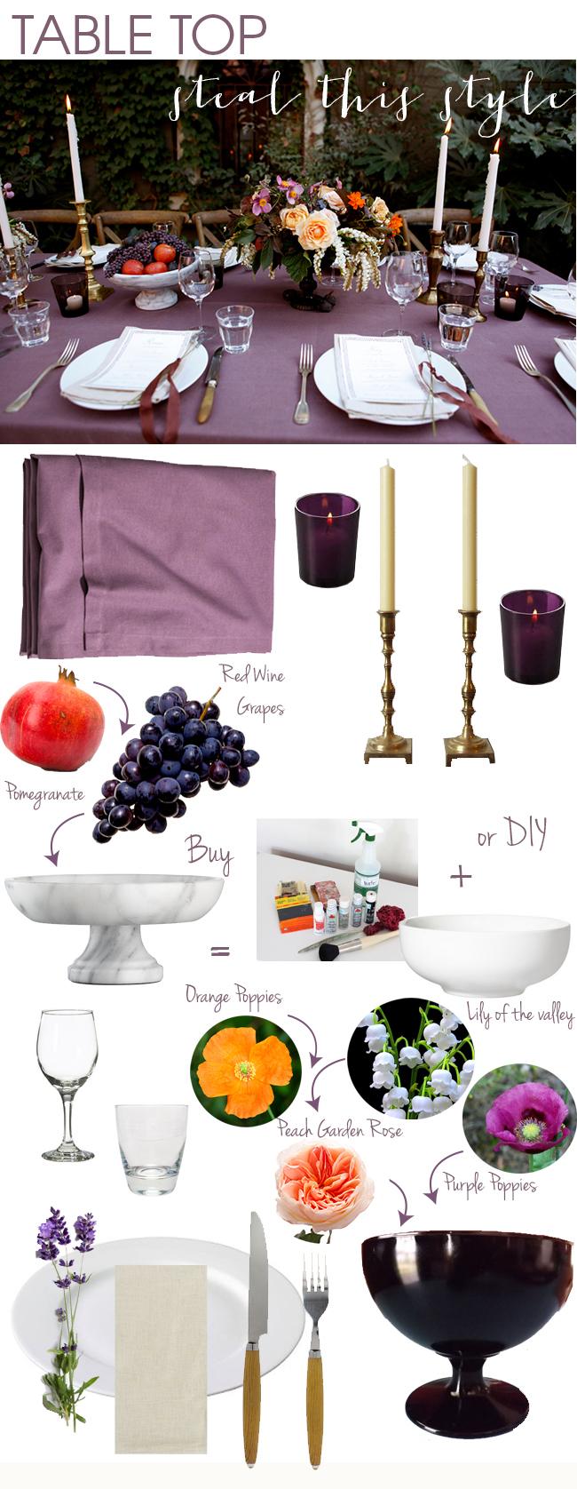 Purple fall table ideas