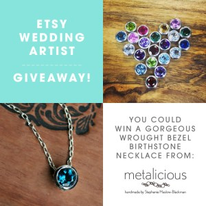 EWA Giveaway - win a bezel birthstone necklace