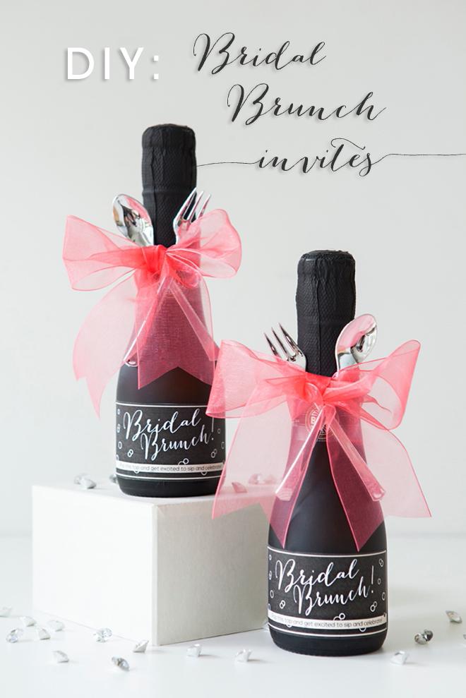 Make These Darling Mini Champagne Brunch Invitations