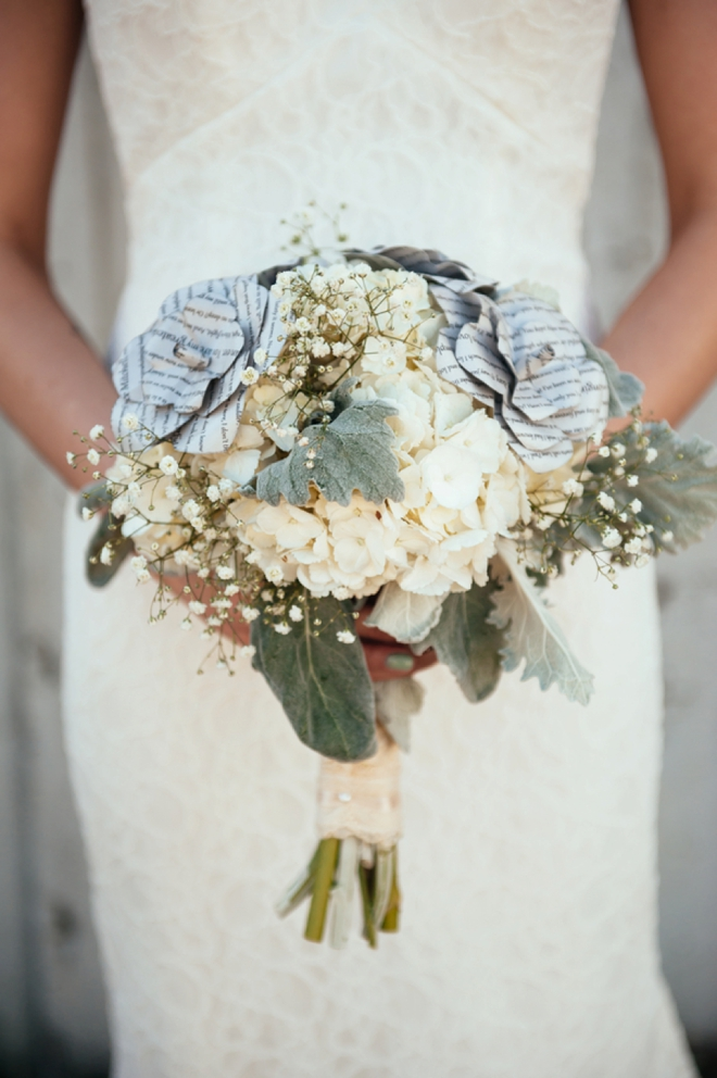 The bride and her bouquet