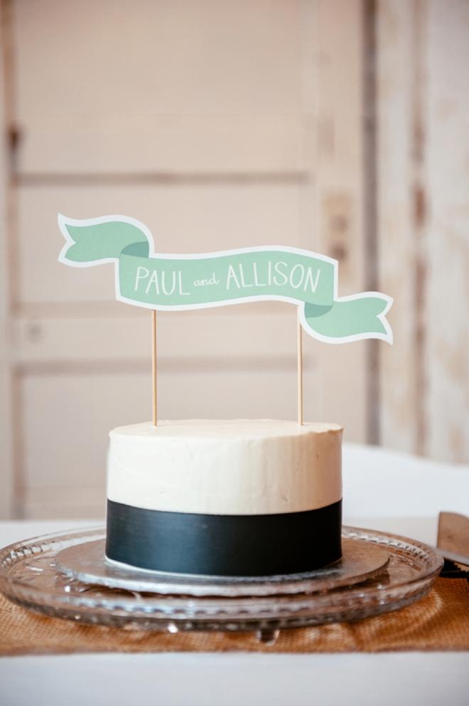 Darling cake topper banner