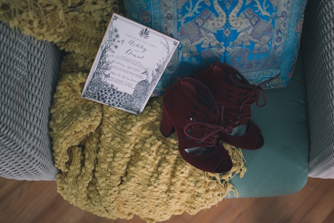 Wedding invitations and ruby shoes