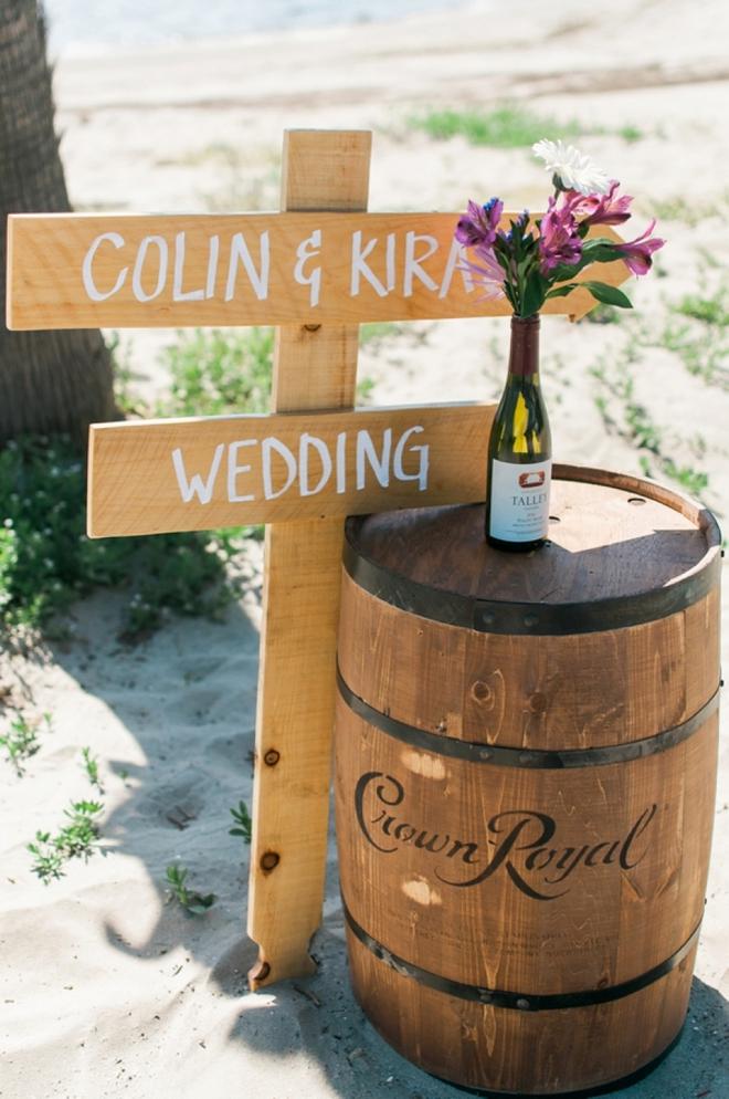 wine wedding sign
