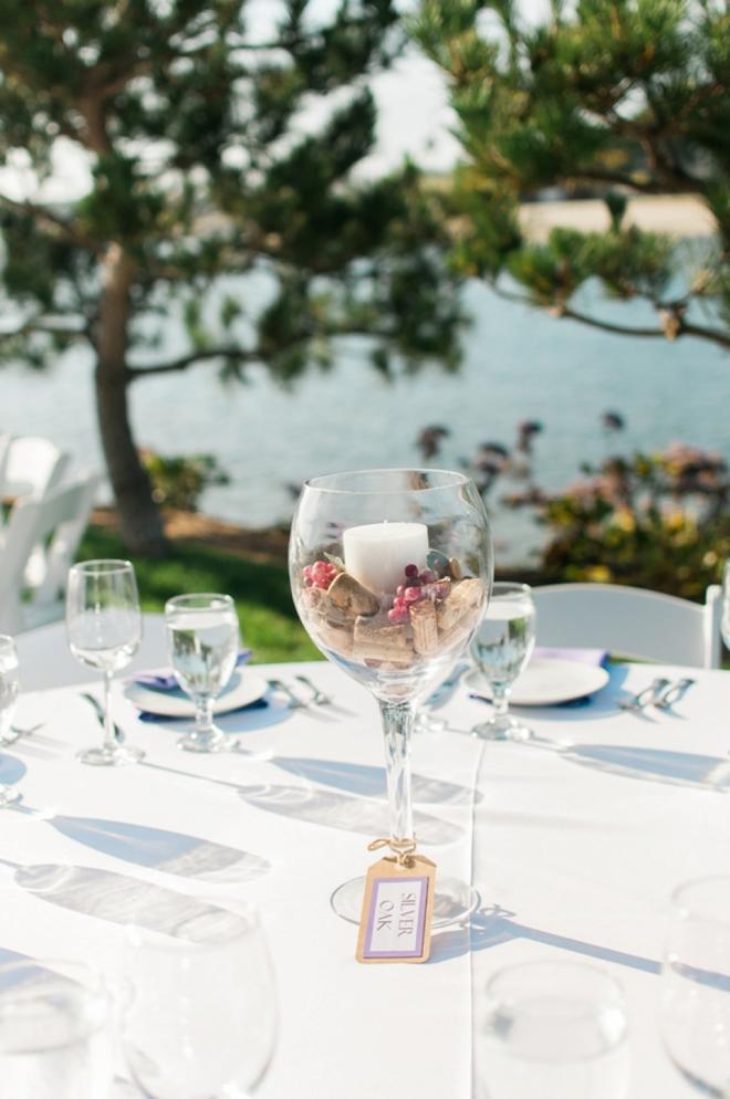 wine wedding centerpiece