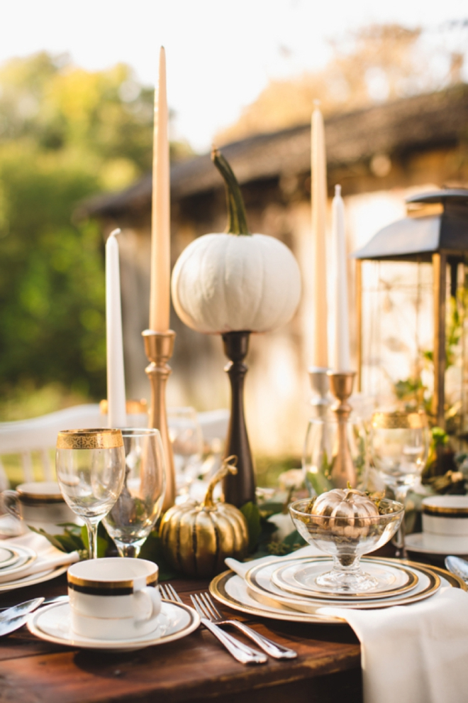 Metallic Fall Wedding inspiration