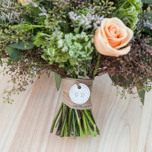 DIY clay bouquet charm tutorial
