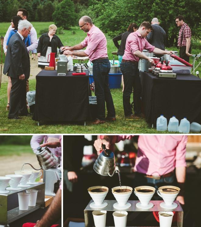 Wedding coffee bar