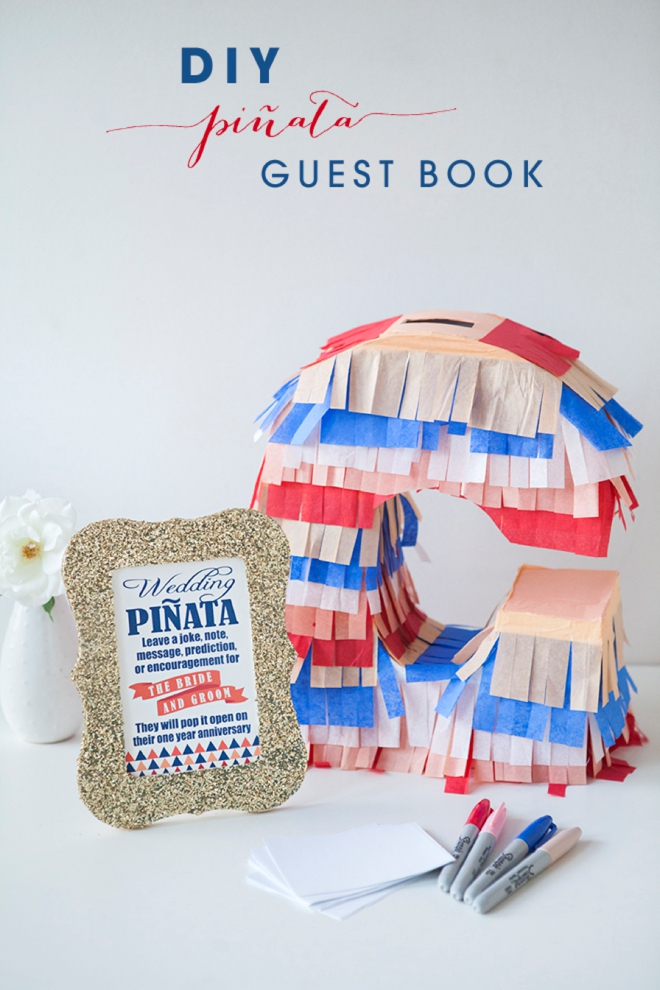 Learn how to make your own piñata guest book!