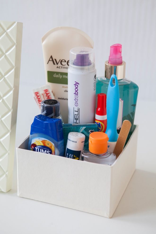 Learn how to make your own bathroom emergency kit!
