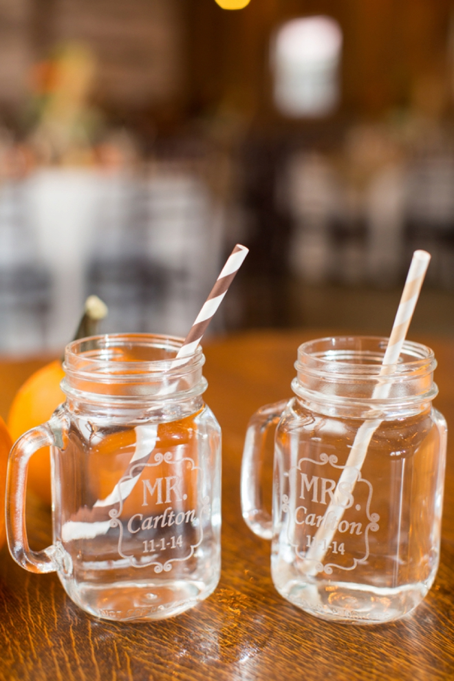 Mr and Mrs mason jar mugs