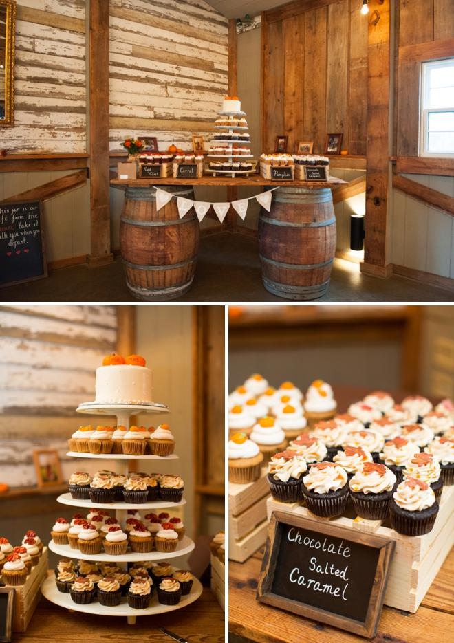 Fall wedding dessert bar