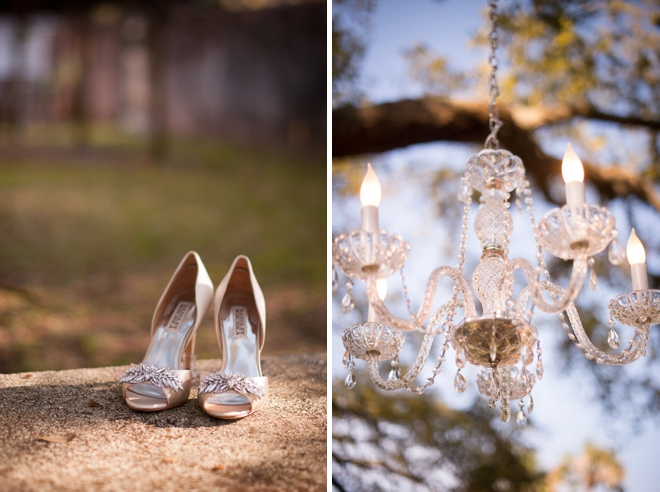 Shoes and chandeliers