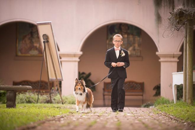 Ring bearer and dog
