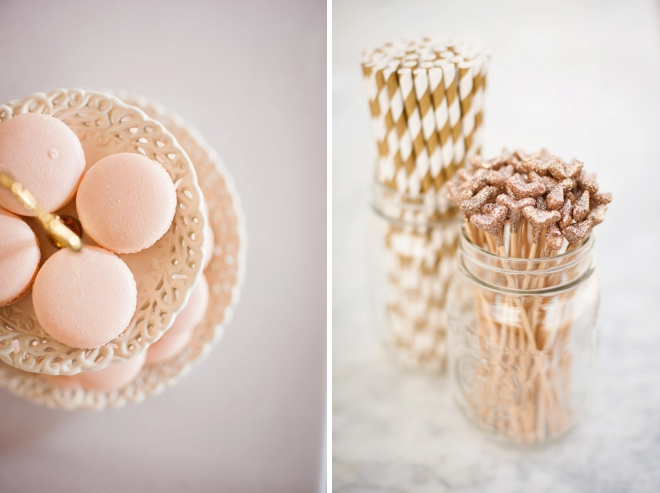 Macaroons and pretty straws