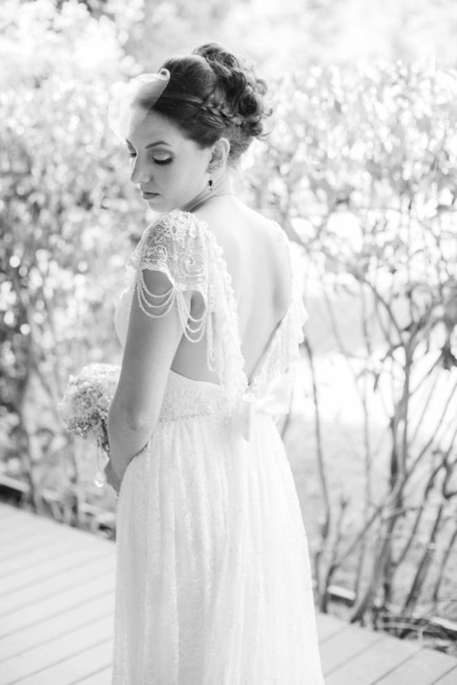 Beautiful beaded wedding dress