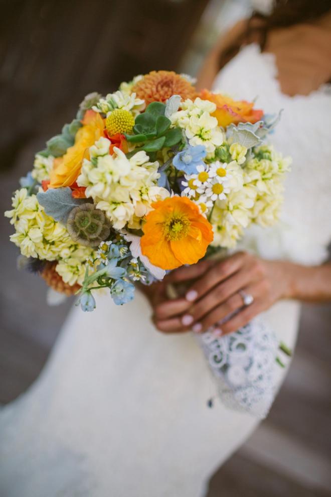 Gorgeous colorful wedding bouquet