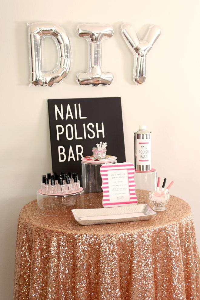 DIY Nail Polish Bar Perfect For A Bridal Shower Or Girly Party