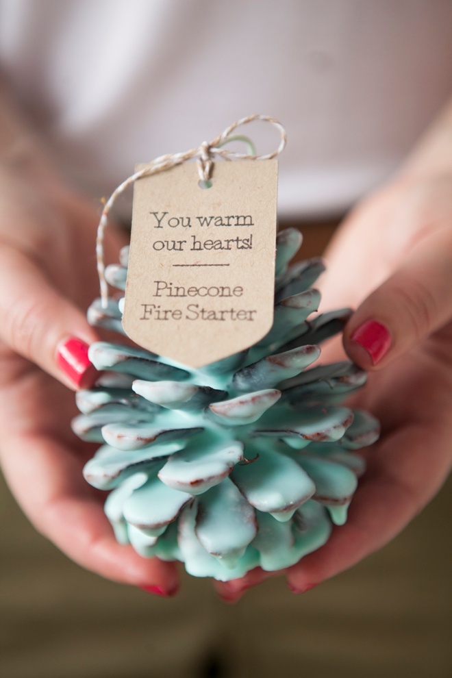 DIY - How to make Pinecone Fire Starter favors