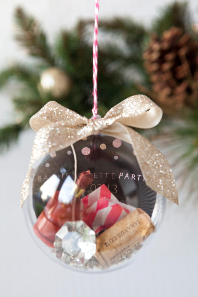 DIY - How to make a bachelorette party keepsake ornament!