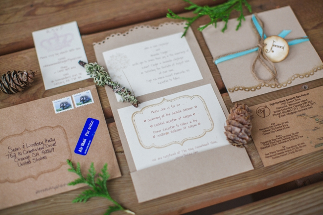 Rustic chic DIY wedding invitations