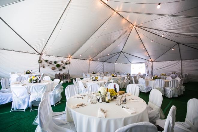 Wedding tent space