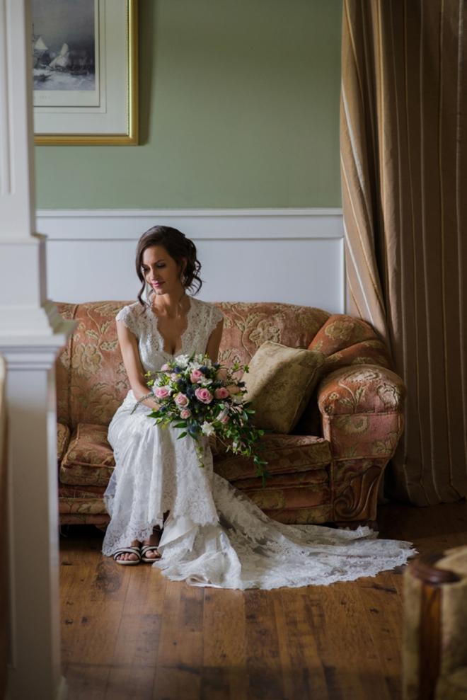 The beautiful rustic bride