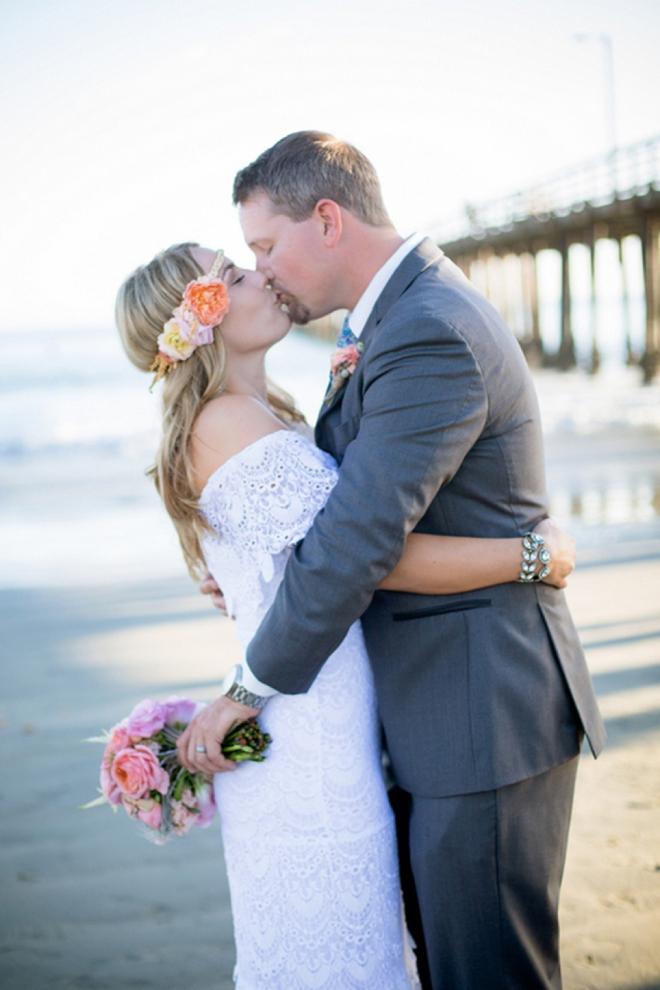 Adorable DIY beach wedding