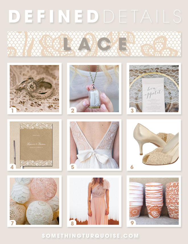 Lovely Lace Wedding Details