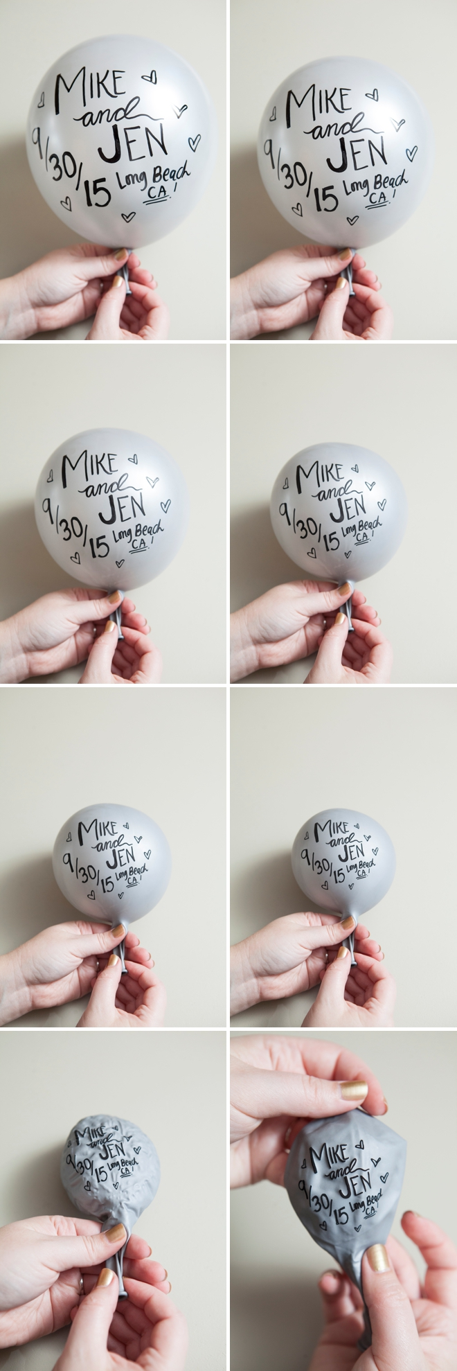 writing on balloons with sharpie