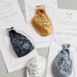 DIY Sharpie Balloon Save the Date