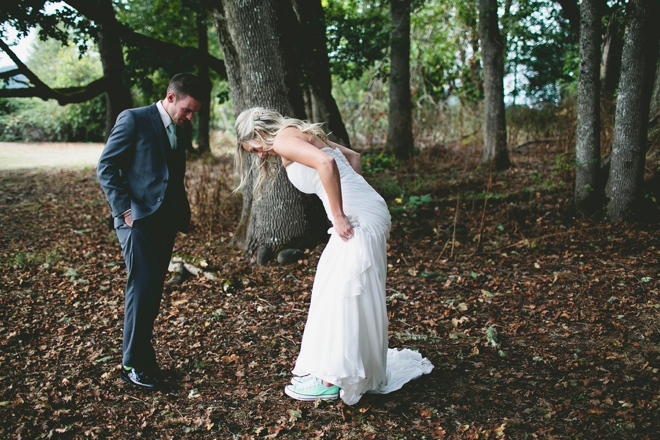Mint converse wedding shoes