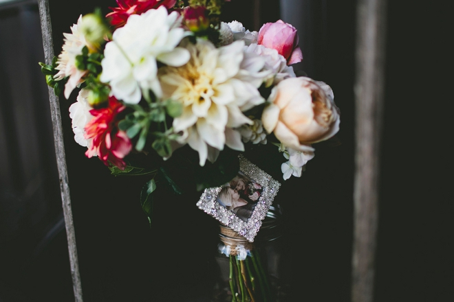 Bouquet charm with special picture