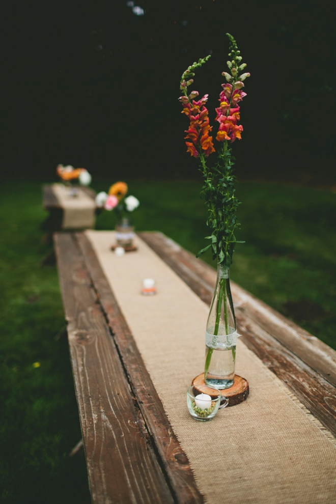 Rustic rectangle tables