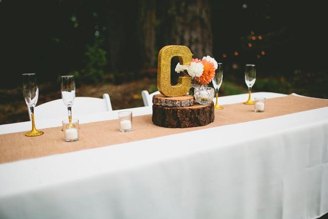 Rustic head table