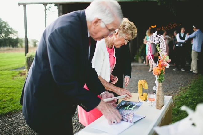 Grandma and grandpa signing in