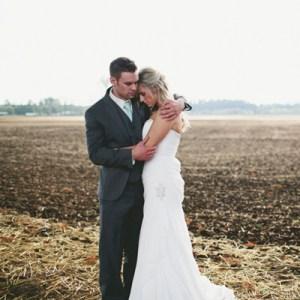 Lovely turquoise rustic wedding