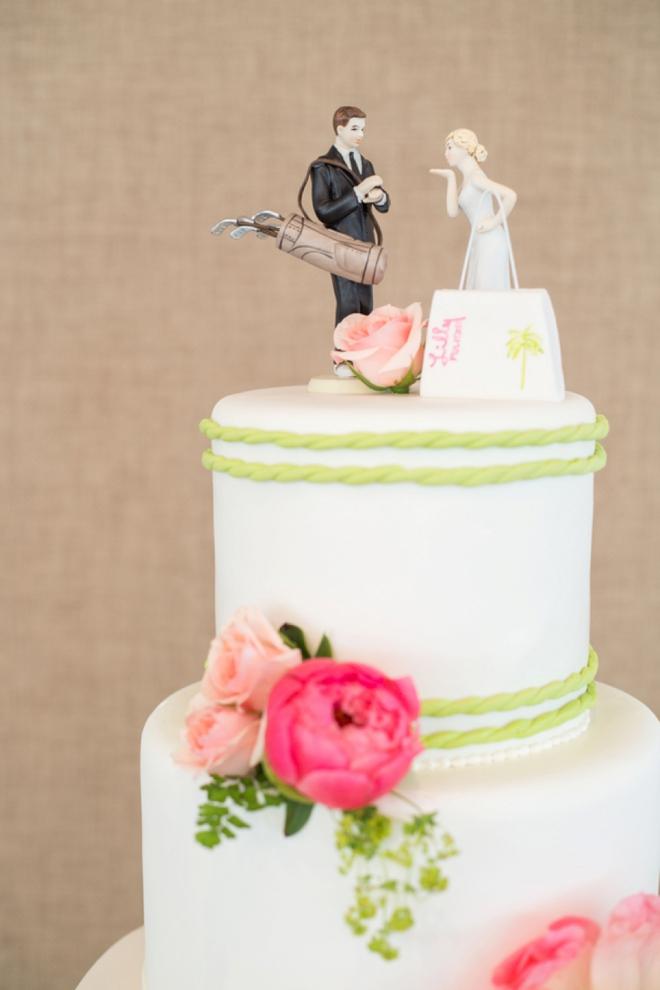Golfer And Shopper Cake Topper