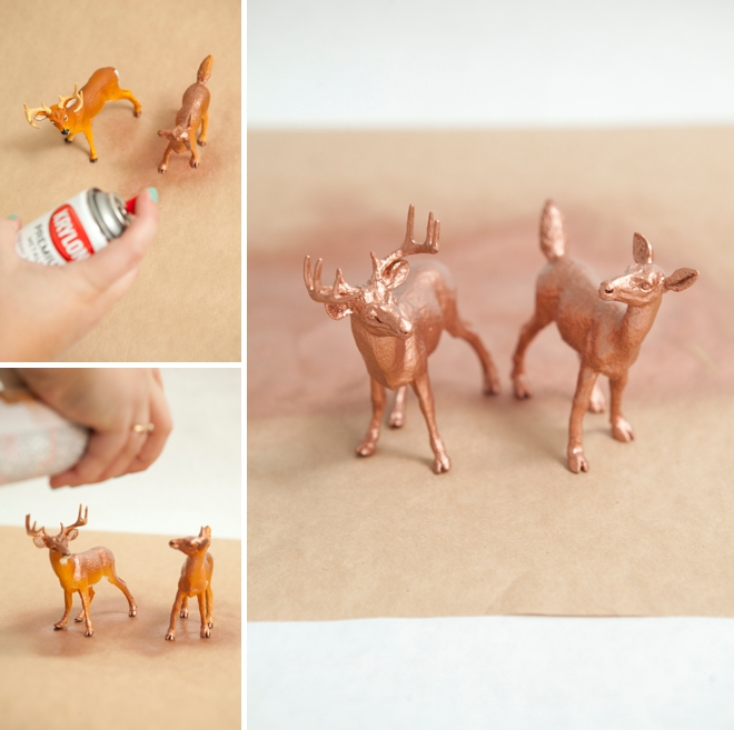 DIY Painted Animal Cake Toppers