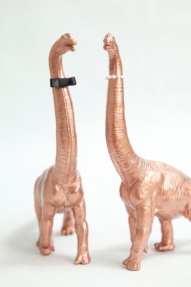 DIY Painted Dinosaur Cake Toppers